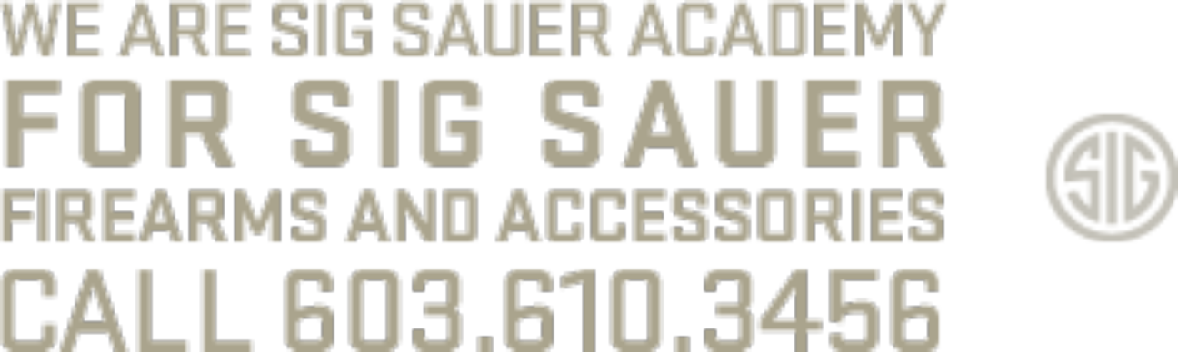 We are Sig Sauer Academy